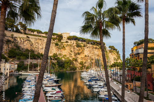 Foto op Canvas Poort Port de Fontvieille in Monaco