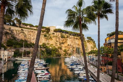 Poster Poort Port de Fontvieille in Monaco