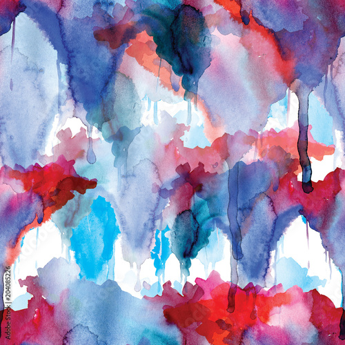 red and blue seamless pattern watercolor blots on white background buy this stock illustration and explore similar illustrations at adobe stock adobe stock blue seamless pattern watercolor blots