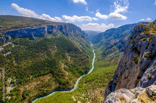 Vue panoramique sur les Gorges du Verdon, Grand Canyon, route des Crêtes. Alpes de Haute Provence. France.