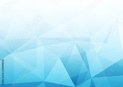 Modern abstract blue transparent crystal pattern background template Tablou Canvas
