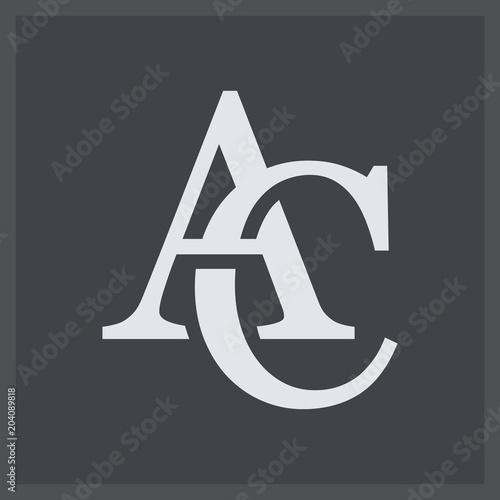 Creative elegant line curve vector logotype Canvas Print