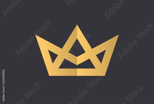 Photographie Geometric Vintage Creative Crown abstract Logo design vector template