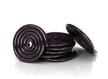 Licorice Candy Wheels. 3D Illu...