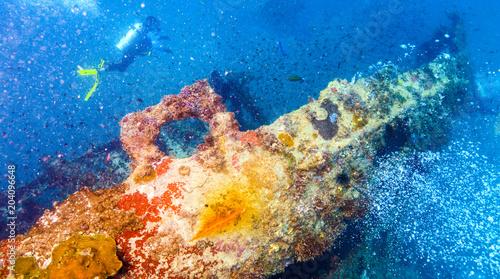 In de dag Schipbreuk ship wreck underwater