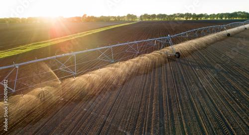 Fotografía  Center pivot irrigation system on field