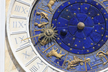 Italy, Veneto, Venice, Sestiere Of San Marco, Detail Of Astronomical Clock