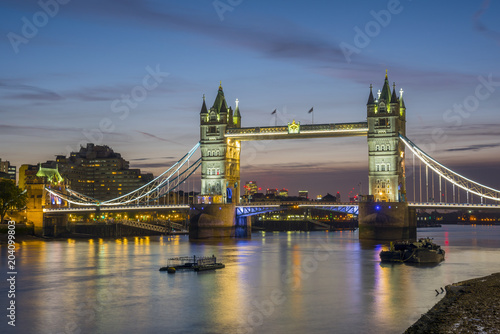 UK, England, London, Tower Bridge over River Thames