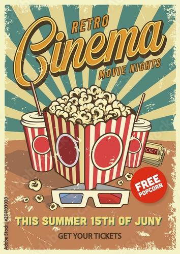 Photographie  Vintage cinema poster