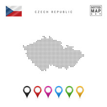 Vector Dotted Map Of Czech Rep...