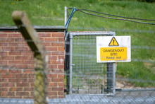 Dangerous Site Keep Out Sign. ...