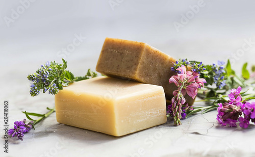 Fotografie, Obraz  Natural soap bars