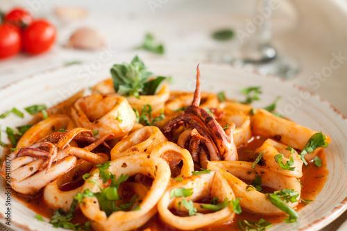 Salad with calamari and octopus