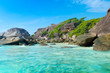 Landscape with rocky beach in Similan national park