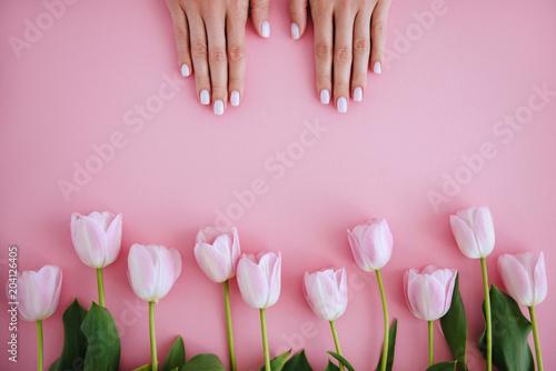 Staande foto Manicure Manicure and flower