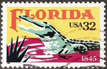Alligator Of Florida On Postag...