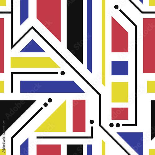 Obrazy styl bauhaus kalejdoskop-kolorow-w-stylu-bauhaus
