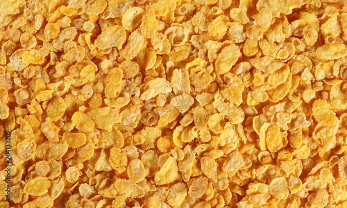 corn flakes background and texture