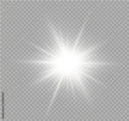 Fototapeta White sparks glitter special light effect. Vector sparkles on transparent background. Christmas abstract pattern. Sparkling magic dust particles. obraz