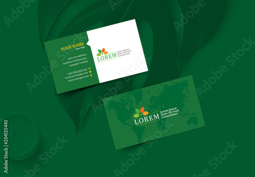 Green business card layout with world map element buy this stock green business card layout with world map element wajeb Gallery