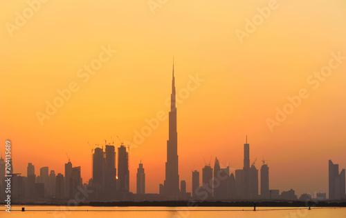 Dubai city building and khalifa