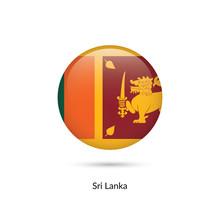 Sri Lanka Flag - Round Glossy ...