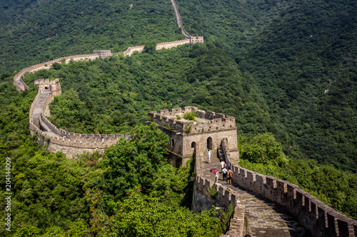 Photo Stands Beijing Chinese Great Wall