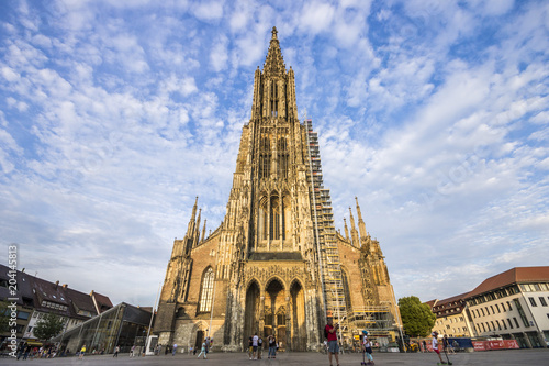Ulm, Germany. The Ulm Minster (Ulmer Munster), a Lutheran temple and tallest church in the world
