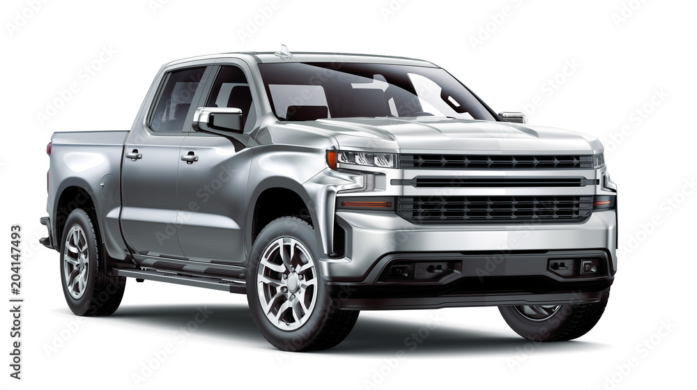 Fototapety, obrazy:  Heavy-Duty Pickup Truck isolated on white background