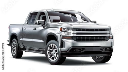 Obraz  Heavy-Duty Pickup Truck isolated on white background  - fototapety do salonu