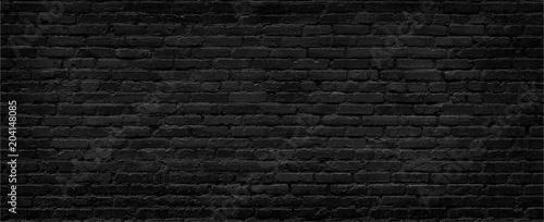 Carta da parati  Black brick wall background.