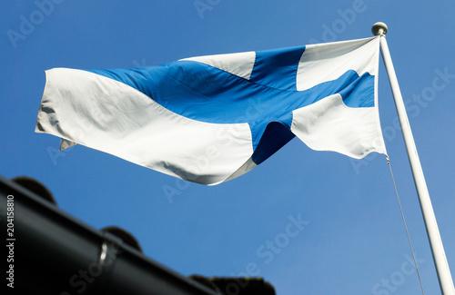 Fotografie, Obraz  Finnische Flagge
