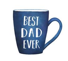 Dark Blue Mug With Text Phrase...