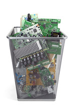 Electronic Waste Isolated On W...