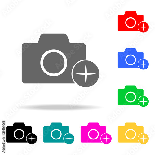 Poster  camera with an appendage icons