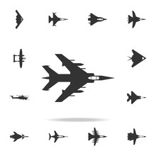 Bombardment Plane Icon. Detailed Set Of Army Plane Icons. Premium Graphic Design. One Of The Collection Icons For Websites, Web Design, Mobile App