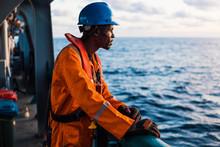 Seaman AB Or Bosun On Deck Of ...