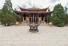 Truc Lam Monastery Is An Ancient Temple To Attract Tourists In Dalat. Vietnam.