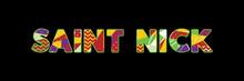 Saint Nick Concept Word Art Il...