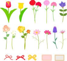いろいろな花のセット