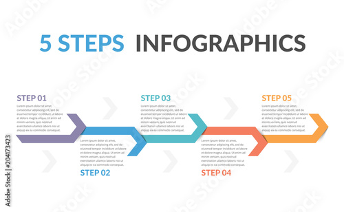 Infographic Template with Arrows Canvas