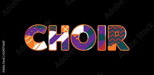 Canvas Print Choir Concept Word Art Illustration