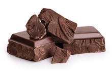 Pieces Of Dark Chocolate Isola...