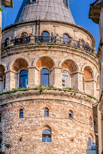 Poster Oude gebouw View of Galata Tower, a medieval famous landmark