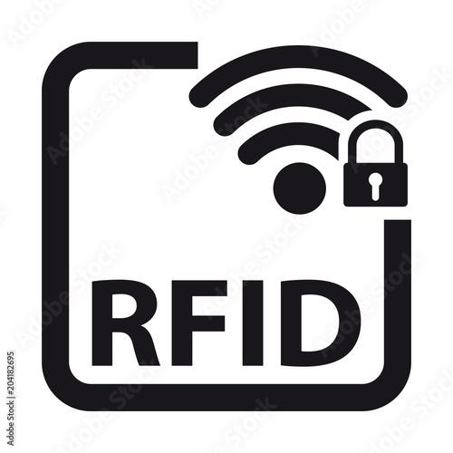 Fotografie, Obraz  Radio Frequency Identification RFID