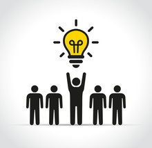 People With Lightbulb Concept ...