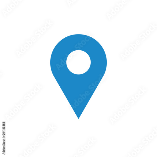 Fototapeta Blue position pin icon. Place pointer illustration
