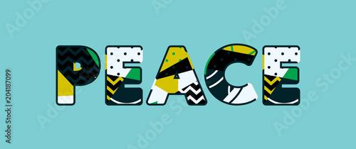 Obraz Peace Concept Word Art Illustration - fototapety do salonu
