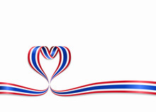 Thai Flag Heart-shaped Ribbon....