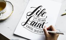 An Artist Creating Hand Letter...